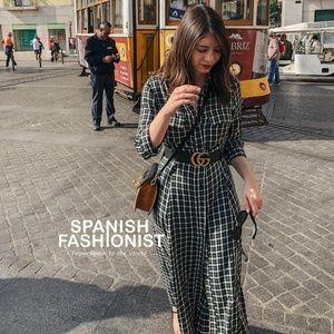 NWT Zara Size M Midi Plaid Dress
